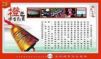 校园文化五彩德育系列橙色安全教育展板