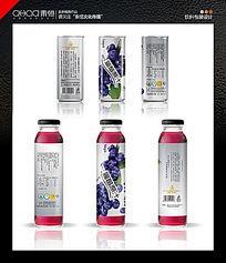 野生蓝莓饮料包装水果饮料包装 PSD