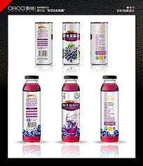 野生蓝莓汁饮料包装 PSD