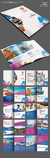 最新时尚国外旅游宣传画册版式设计