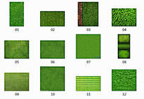 12张草坪贴图素材 JPG