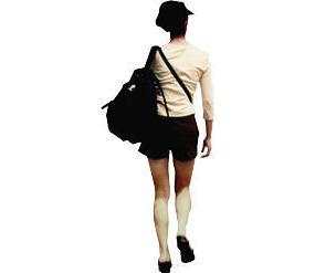 两个美女背影_背背包的女人背影