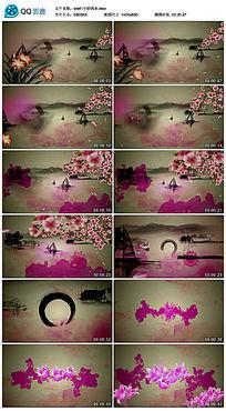 粉红色小桥流水背景视频
