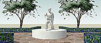 广场雕塑小品