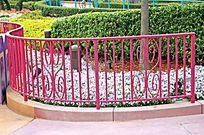 金属蝴蝶花纹护栏