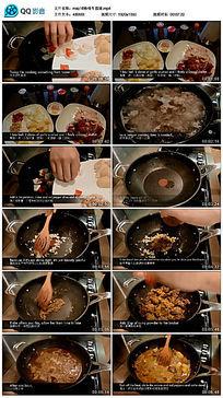 咖啡牛筋腩美食制作鉴赏视频 mp4