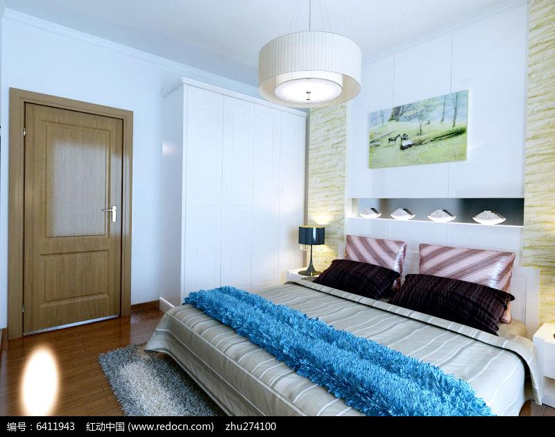 素材/卧室装修布置模型素材 室内装修 卧室模型3D模型MAX格式...