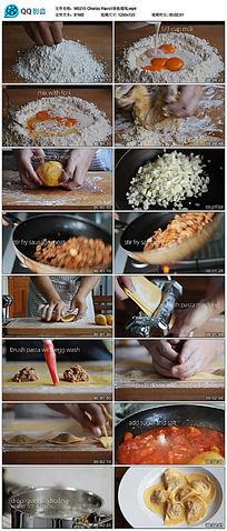 香肠馄饨美食制作教程视频 mp4