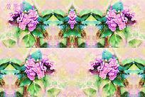 紫色水彩花特效视频