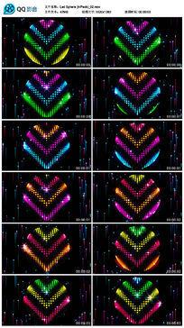 彩色箭头矩阵灯大屏幕圆球背景墙视频素材