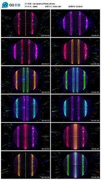 彩色矩阵灯大屏幕圆球背景墙视频素材