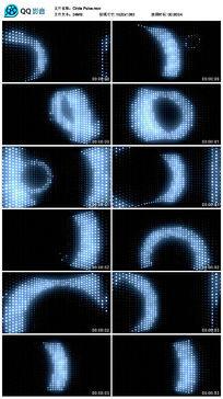 蓝白色led霓虹圆环矩阵灯动感视频
