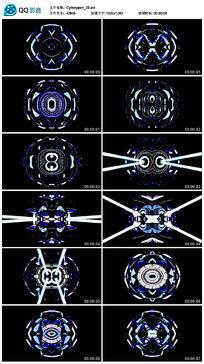 led蓝色三维科技立体空间舞台演绎背景视频素材