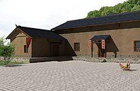 民居建筑  民房模型 农村民房建筑模型