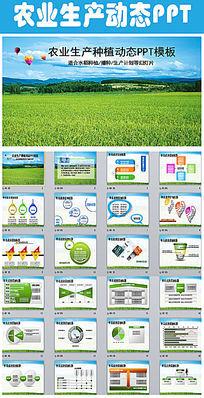 农业生产水稻播种新农村春耕动态PPT模板