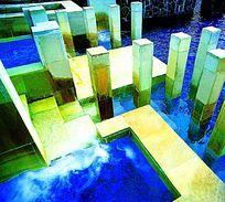 现代特色创意水景景观