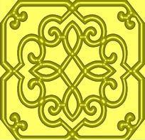 棱角镂空花纹雕花精雕
