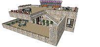 现代风格复式室内家装草图大师SU模型skp模块