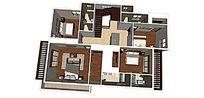 现代复式室内家装草图大师SU模型skp模块