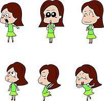 百变可爱小女孩卡通图片