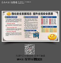 中国风传统安全生产学习展板设计