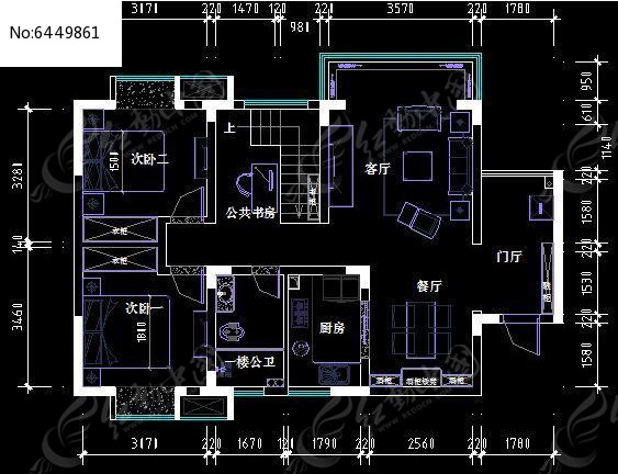 CAD装修平面图图片