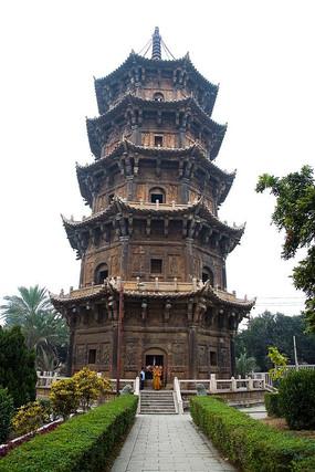 古建五层景观塔
