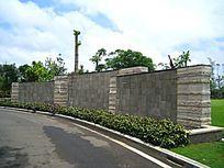 弧形石景墙 JPG