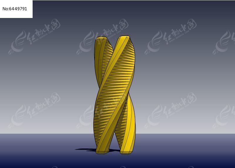 立体双螺旋体如何手工制作