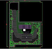 CAD园林布置图模型下载 CAD