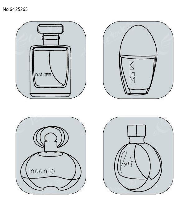 创意线性香水瓶图标图片