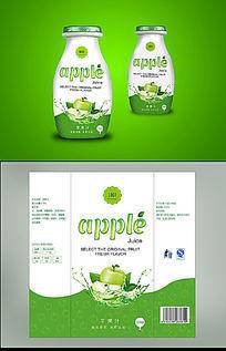 绿色清新苹果汁包装