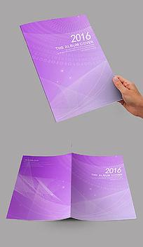紫色弧线艺术封面