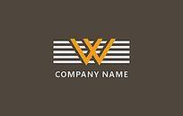 W字母logo设计