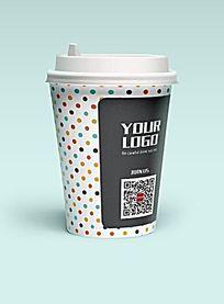 波点咖啡纸杯设计