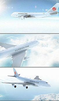 飞机风行动画AE模板