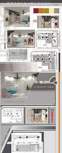 服装专卖店商业展示空间设计3D效果图源文件+CAD源文件 max
