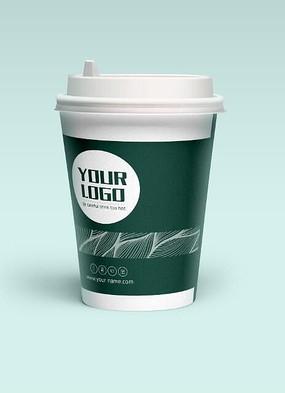 简约咖啡纸杯设计 AI