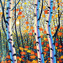 经典抽象树有框无框装饰画