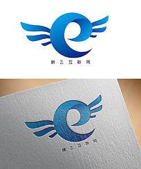 蓝色翅膀互联网公司LOGO