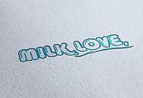 蓝色英文字母乳制品logo