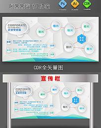 企业文化墙展板3D设计