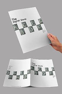白色简约字母封面设计