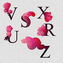 高端时尚花纹艺术字母设计下载