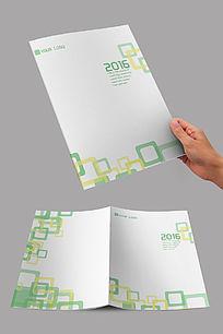 绿色简约方形封面设计