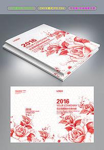 中国风水墨花卉封画册面设计