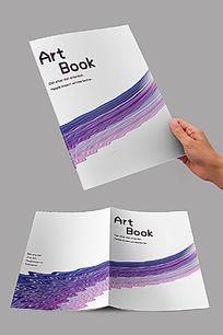 紫色水波封面设计