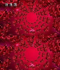 唯美玫瑰花飘扬婚礼庆典爱情背景