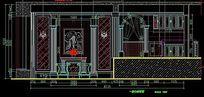 欧式别墅室内装修一层立面图
