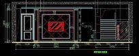 视听室背景墙CAD施工图
